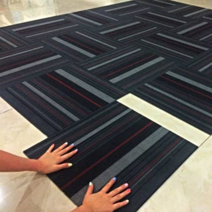 Cara Memasang Karpet Tile